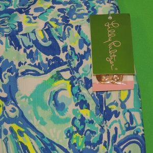 Lilly Pulitzer Shorts - Lilly Pulitzer Womens 00 Blue Crush Shorts NEW